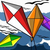 Kites in the air Royalty Free Stock Photo