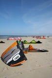 Kites on beach Royalty Free Stock Image