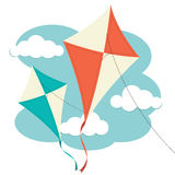 Kites & Clouds Stock Image
