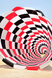The kites on cha-am beach. The kites festival on cha-am  Thailand Royalty Free Stock Images