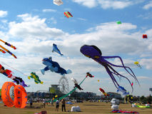 Kites in festival, Portsmouth, Hampshire, England Stock Photography