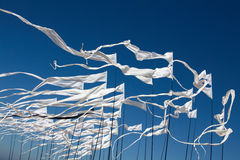 Kites flags. In the sky Royalty Free Stock Images
