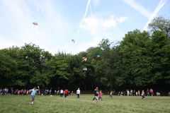 Kites flying day Royalty Free Stock Image