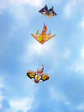 Kites flying in the sky Stock Image