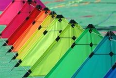 Kites on the ground stock photos