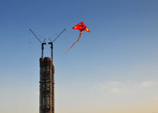 Kites and modern architecture Royalty Free Stock Photo