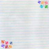 Kites on notebook paper, makar sankranti concept Royalty Free Stock Photo