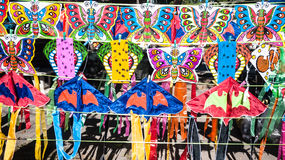 Kites on Panel for selling Stock Image