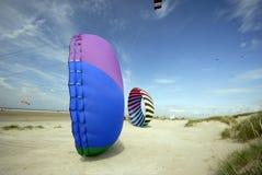 Kites on sand royalty free stock photos