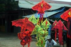 Kites seller Royalty Free Stock Photos