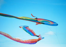 Kites in sky Royalty Free Stock Photo