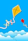 Kites in sky Stock Photos