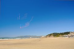 Kites in the sky. Stock Photo