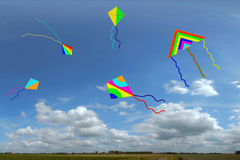 Kites with sky Royalty Free Stock Image
