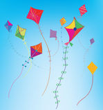 Kites in the sky background Stock Photo