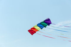 Kites in the sky Royalty Free Stock Photos