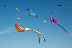 Kites. In the sky during Kite Festival in Dubai Stock Photo