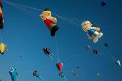 Kites. In the sky during Kite Festival in Dubai Royalty Free Stock Image