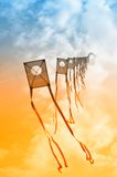 Kites in the sky Royalty Free Stock Image