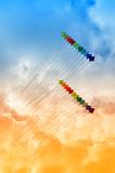 Kites in the sky Royalty Free Stock Photography