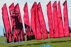 Kites soaring in the sky. Royalty Free Stock Image