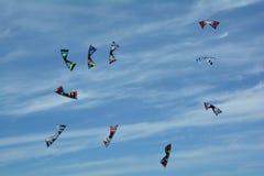 Kites soaring in the sky. Royalty Free Stock Photo