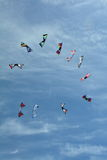 Kites soaring in the sky. Royalty Free Stock Images