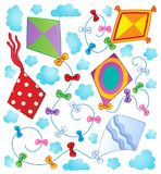 Kites theme image 1 Stock Images