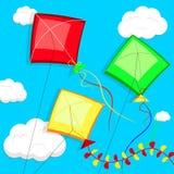 Kites. Vector illustration. Royalty Free Stock Image