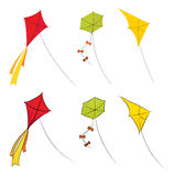 Kites vector illustration Royalty Free Stock Images