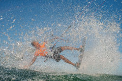 Kitesurf自由式 免版税图库摄影