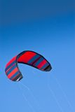 Kitesurf. Colorful Kite against blue sky stock photography