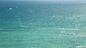 Kitesurf extrême en Espagne banque de vidéos