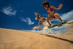 Kitesurf flickor Arkivbild