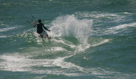 Kitesurf Free Ride Royalty Free Stock Photo