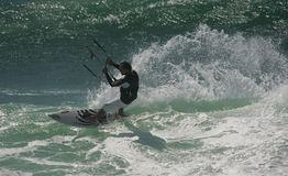 Kitesurf Free Ride Royalty Free Stock Photos