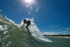 Kitesurf freestyle Stock Photography