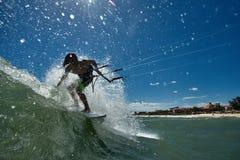 Kitesurf freestyle Stock Image