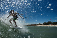 Kitesurf freestyle Royalty Free Stock Images