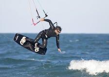 Kitesurf I. Tarde de kitesurf en la playa de El Sardinero,Cantabria ( norte de España Royalty Free Stock Photo