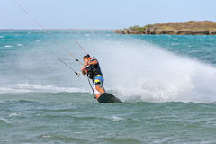 Kitesurf in the lagoon Royalty Free Stock Images