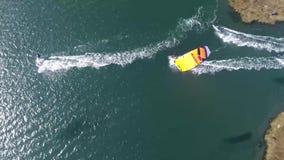 Kitesurf in Murtosa, Ria de Aveiro stock video footage