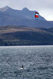 Kitesurf Patagonia Royaltyfria Foton