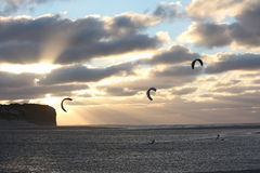 Kitesurf riders Royalty Free Stock Photo