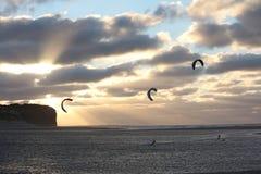Kitesurf ryttare Royaltyfri Foto