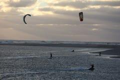 Kitesurf ryttare Royaltyfria Foton