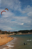 Kitesurf in Santander Stock Images
