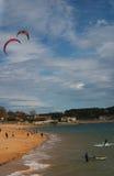 Kitesurf in Santander Stock Images