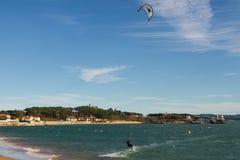 Kitesurf in Santander Stock Image