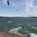 Kitesurf in Santander Stock Photography